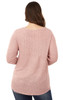 Plus Size Flamingo Swing Top In Cotton Candy