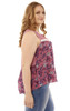 Plus Size Crochet Floral Print Tank In Rose