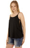 Super Soft Cage Side Tank In Black