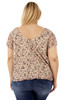 Plus Size Swing Lace Top In Nude