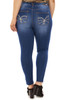 Plus Size Luscious Curvy Destructed Skinny Jeans + Gift with Purchase In Ashlee