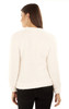 Flip Sequins 2 Way Sherpa Pullover In Antique White