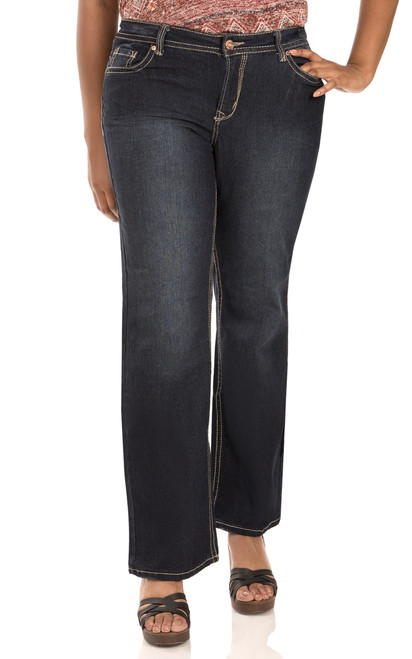 Plus Size Basic Legendary Bootcut Jeans In Scarlet