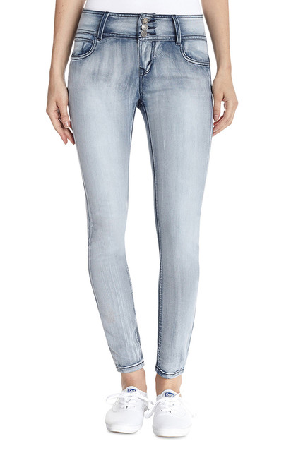 Sweetheart High Rise Push Up Skinny Jeans In Ivy