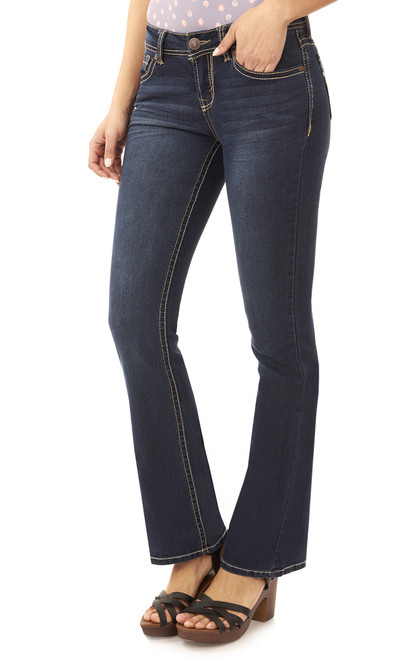 Long Inseam Basic Legendary Bootcut Jeans In Scarlett