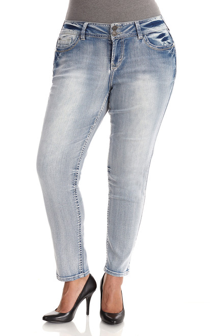 Plus Size Luscious Curvy Skinny Jeans In Lexi