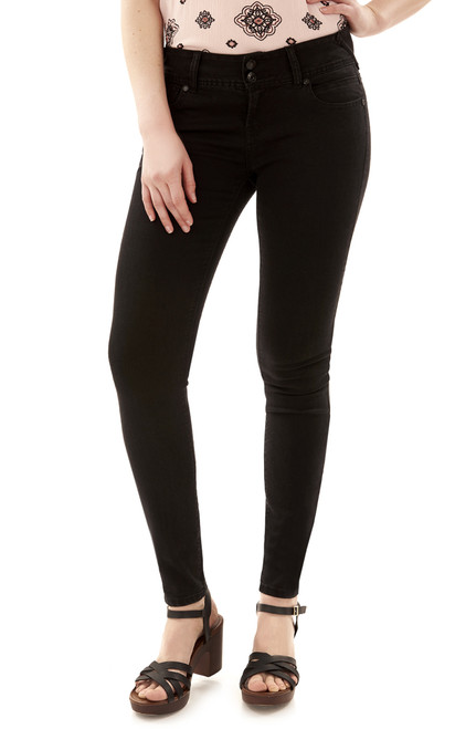 Ultra Luxe Luscious Curvy Skinny Jeans In Black