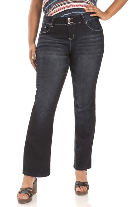 Plus Size Luscious Curvy Bootcut Jeans In Reese