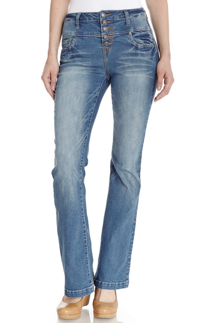 High Rise Flare Jeans In Laura