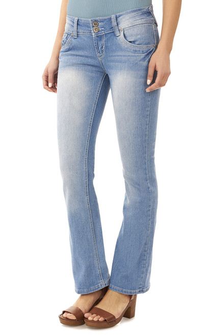 Luscious Curvy Bootcut Jeans In Kelly