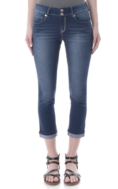 Luscious Curvy Push Up Crop Jeans In Mari