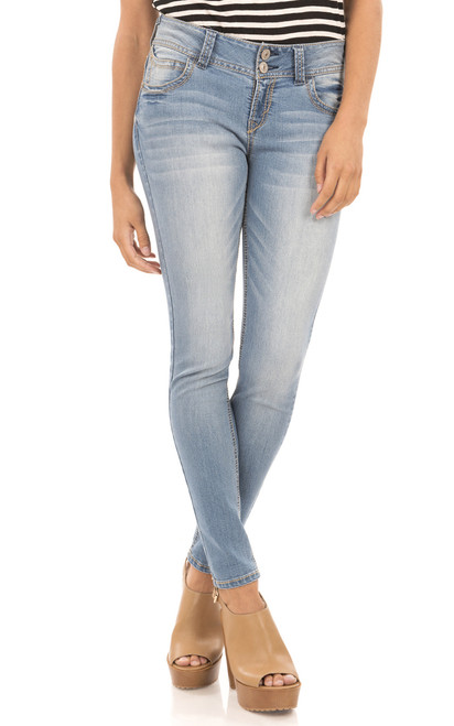 Luscious Curvy Skinny Jeans In Darcy