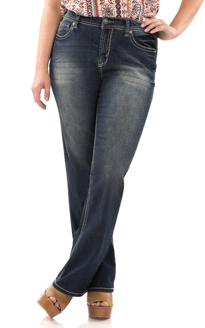Plus Size Basic Legendary Bootcut Jeans In Katy