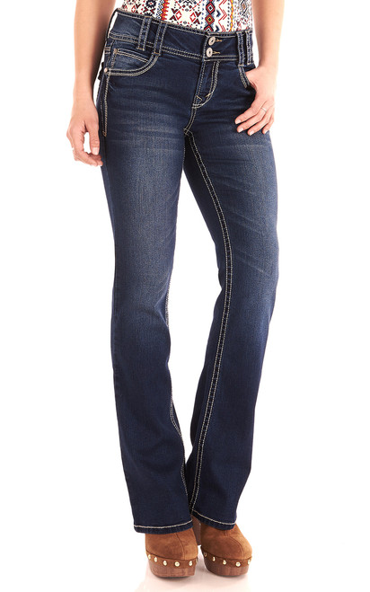 Insta Stretch LYCRA® Luscious Curvy Bootcut Jeans In Chrystie