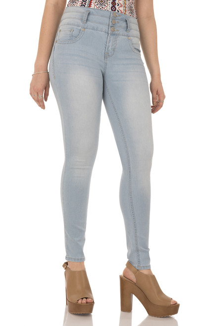 Insta Soft Sassy Push Up Curvy Skinny Jeans In Tyndal