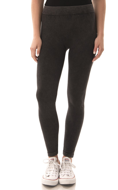 Vintage Wash Twill Legging In Black