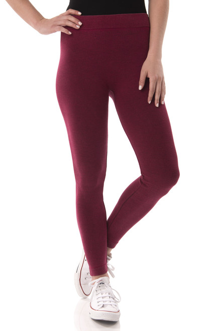Vintage Wash Twill Legging In Wine