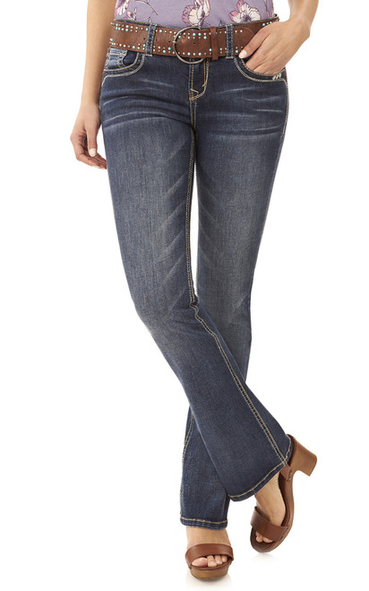 Legendary Belted Bootcut Jeans In Kagan
