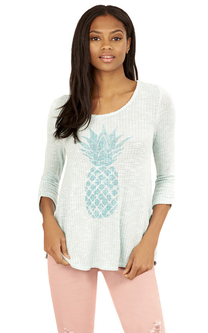 Pineapple Swing Top In Mint