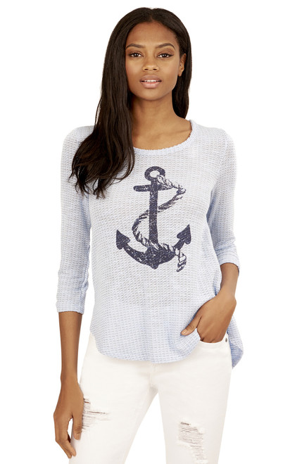 Anchor Swing Top In Navy