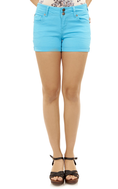 Luscious Curvy Modal Shorts In Blue