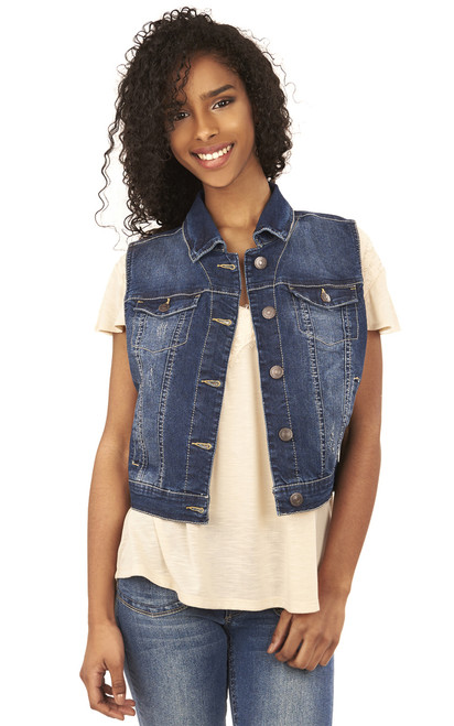 Dreamer Denim Vest In Jillian