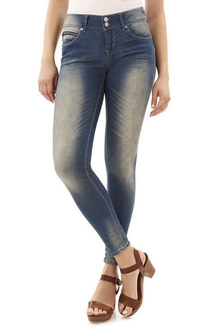 Curvy Push Up Skinny Jeans In Racquel