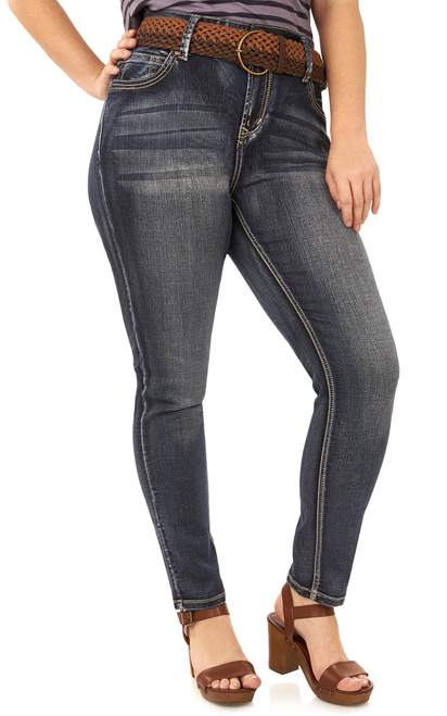 Plus Size Luscious Curvy Straight Jeans In Kagan