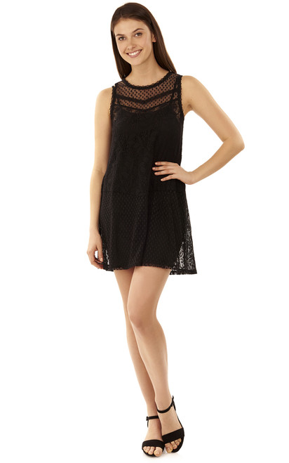Romantic Lace Dress In Black