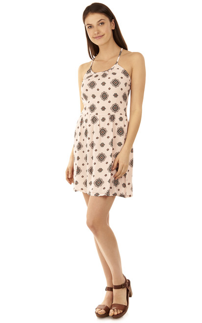 Strappy Americana Mini Dress In Pink Print