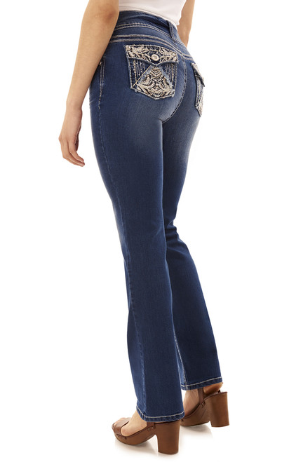 Luscious Curvy Bling Bootcut Jeans In Julia