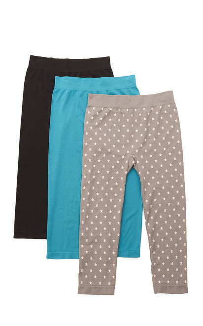 3-Pack Capri Leggings In Assorted-D