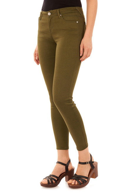 Ultra Luxe Skinny Jeans In Olive Night