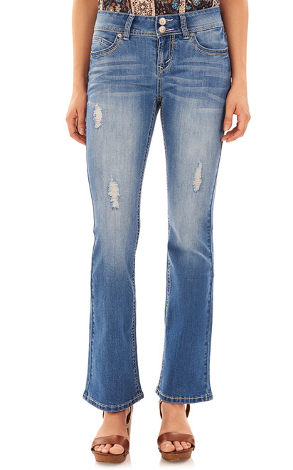 Luscious Curvy Basic Bootcut Jeans In Margot