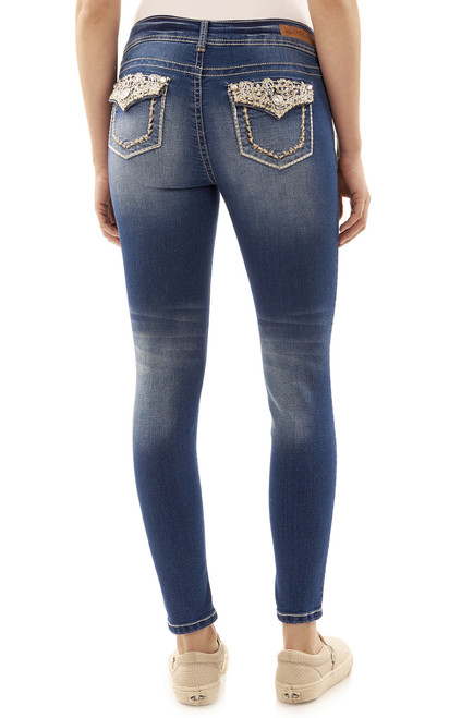 Luscious Curvy Embellished Skinny Jeans In Addison