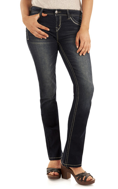 Long Inseam Classic Legendary Bootcut Jeans In Kaylee