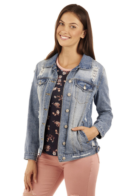 Oversized Denim Jacket In Serena