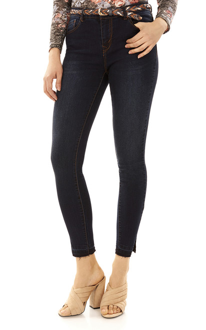 Irresistible Belted Skinny Jeans In Wren