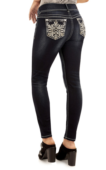 Snowflake Luscious Curvy Skinny Jeans In Icicle