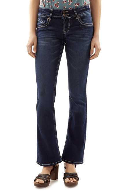"Luscious Curvy Basic Bootcut Jeans (30-32"") In Natalie"