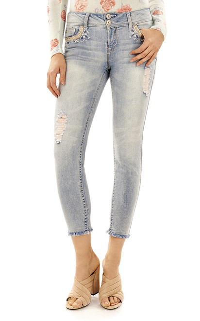 Luscious Curvy Bling Ankle Skinny Jeans In Chance