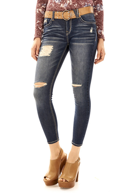 Legendary Belted Cropped Skinny Jeans In Dana