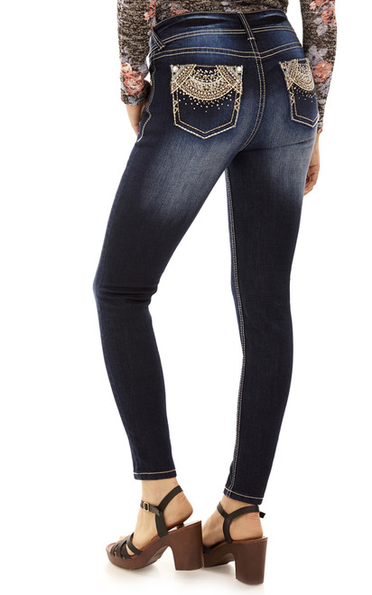 Luscious Curvy Bling Ankle Skinny Jeans In Kyle