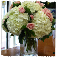 Hydrangea And Rose Bunch
