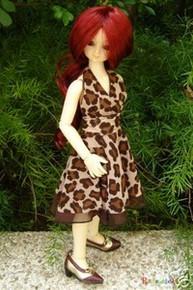 Wine Red Bottom Curl 7-8 Wig for MSD BJD Dollfie Ellowyne Wilde Dolls