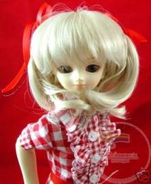 Light Blonde Half-Pigtails 7-8 Wig #4134  for MSD BJD Dollfie Ellowyne Wilde Dolls