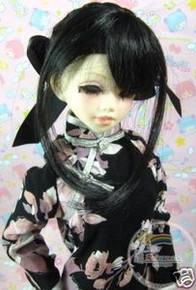 Unoa/Narae Dollfie Black Back Braids 6-7 Wig #6020-1B