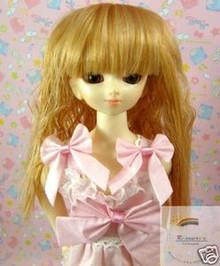 Peach Gold Wave 7-8 Wig #4133 for MSD BJD Dollfie Ellowyne Wilde Dolls