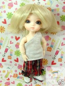 """Blonde Wind Wild 5.5"""" Wig for Lati Yellow Pukifee BJD Dollfie 16"""" Tonner Tyler #8017-613"""