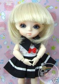 "Blond Bob 5.5"" Wig  for Lati Yellow Pukifee BJD Dollfie 16"" Tonner Tyler #8015-613"